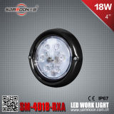4 Inch 18W (6PCS*3W) Round CREE LED Car Work Driving Light mit CER RoHS (SM-4018-RXA)