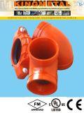 화재 도난 방지 시스템을%s 홈이 있는을%s 결합하는 연성이 있는 철 홈이 있는 이음쇠