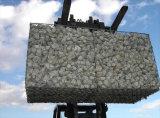 GabionボックスまたはGabionの網か六角形の金網またはGabion