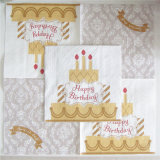Het kleurrijke Servet van het Document voor de Gift van de Partij van de Verjaardag