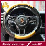 Волокно углерода и крышка рулевого колеса автомобиля конструкции Lambskin новая