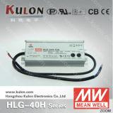 Excitador impermeável do diodo emissor de luz de Pfc da eficiência elevada de fonte de alimentação Hlg-40h de Meanwell 12V 15V 20V 24V 30V36V 42V 48V 54V