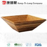 Cuvette en bambou écrasée par place de cuisine