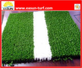 Relvado artificial do jardim da cor verde para o tênis