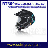 écouteur imperméable à l'eau d'intercom de casque de motocyclette de moto de Bluetooth d'interphone de 1000m BT