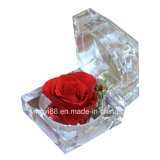 Caixa acrílica da flor da qualidade super para o amante