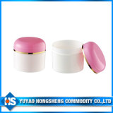 Vaso cosmetico della plastica del metallo