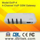4 Canais GSM Gateway VoIP com 4 SIM Card GoIP4
