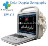 Ultra-som veterinário portátil Ew-C5V diagnóstico da cor com ponta de prova convexa C3r60 e ponta de prova linear L7l40 para vascular e o abdômen