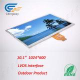 10.1 Duim 200 CD/M2 Lvds 40 LCD van de Interface van de Speld de Vertoning van het Scherm