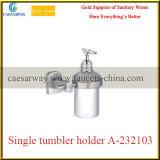 Держатель санитарной латунной арматуры ванной комнаты изделий латунный одиночный стеклянный