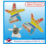 Emblema decorativo relativo à promoção do metal com alta qualidade