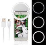 Luz de relleno ligera de la iluminación de Selfie del LED de la luz con clip portable del anillo para el iPhone