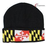 刺繍およびジャカード冬によって編まれる帽子