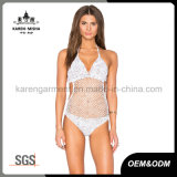 Ladies Heather Cor Crochet One Piece Swimwear