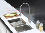 Bassin de cuisine fabriqué à la main de cuvette d'acier inoxydable 50/50 double
