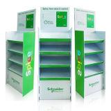 Visualización con los estantes, soporte de la cartulina del estallido de visualización de papel del suelo