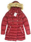 Couche/jupe de l'hiver de la mode des femmes avec le capot de fourrure de Detachabel