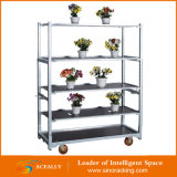 4 Wheels를 가진 2016 창고 Galvanized Transportation Cart Trolley
