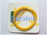 Manutenção programada 9/125 OS2 0.9mm do Pigtail LC/Upc 2m LSZH