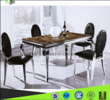 Metallmarmorspeisetisch mit Marmorwohnzimmer-Möbeln