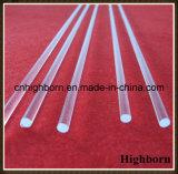 Quartzo transparente Rod de vidro do silicone fundido de resistência térmica para a venda