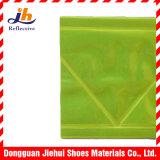 Fita reflexiva prisma fluorescente do PVC do amarelo de micro para vestuários da segurança