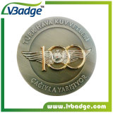 Kundenspezifische Ton-Überzug-Metallandenken-Münze des Militär-zwei für Ansammlung