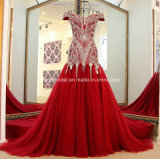 Die Kristall-Abend-Kleid-kundenspezifische Nixe, die Abschlussball bördelt, kleidet E15901