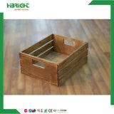 Crémaillère d'étalage en bois de fruits et légumes de supermarché