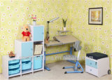 Protéger Eyes et Spine Children Table avec Cabinet Furniture Set
