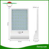 luz al aire libre de la pared de la seguridad impermeable de la lámpara del jardín de la luz del sensor de movimiento de la energía solar de 450lm 36 LED