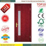 Дверь PVC самомоднейшего качества типа самого лучшего покрытая деревянная
