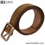 Пояс HD-3004 замши 2016 большинств людей пряжки отделки высокого качества Popolar твердых латунных кожаный