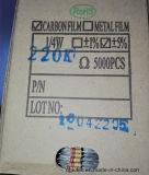 CFR1/4W el 5% resistores de película del carbón de 270 ohmios