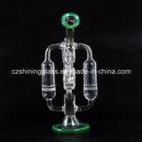 Plates-formes pétrolières de recycleur en verre brillant intéressant de modèle pour fumer Czs-222