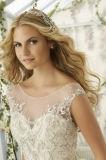 Reizvoller Nixe-Schatz-trägerlose Stickerei, die Hochzeits-Kleid bördelt