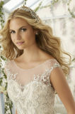 "Bordado Strapless do querido ""sexy"" da sereia que perla o vestido de casamento"