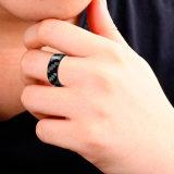 Bom anel de casamento real surpreendente novo da fibra do carbono do presente 100%