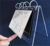6 Rekken van de Vertoning van de Houder van de Kalender van de Desktop van de duim de Acryl voor Kalender, Foto of Menu