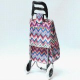 93cm Highquality Household Colourful Fodable Shopping Trolley con Bag con Ripple Pattern
