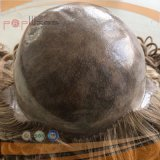 Парик PU Silk верхнего польностью швейцарского основания шнурка верхний продавая