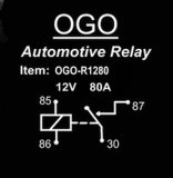 Ogo Branded Automotive Relay 12V 80A