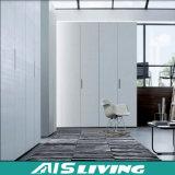Armário liso moderno do Wardrobe da porta do lustro elevado branco puro (AIS-W016)