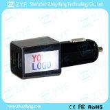 Doppel-Port USB-Ausgabe-Auto-Aufladeeinheit mit Firmenzeichen (ZYF9108)