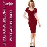 Платье карандаша партии красного лета женщины вскользь (L36118-1)