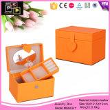 Organizador de la joyería del regalo de la caja de la belleza pequeño (8260)