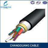 Cable Óptico Unimodal de Fibra de la Base G652D del Hilado 12 de Kevlar (ADSS)