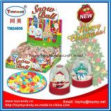 Игрушка шарика снежка промотирования рождества стеклянная с конфетой