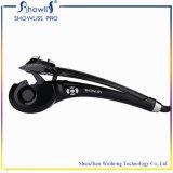 Showlissの自動毛のヘアアイロンLCDの温度の表示毛のローラー